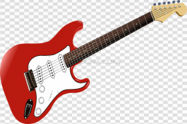 Music Red Guitar PNG Pic