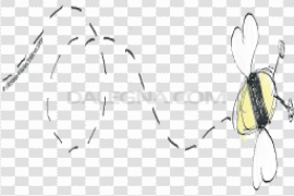 Vector Bee Trail Path PNG
