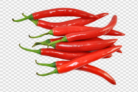 Fresh Green And Red Chilli PNG File