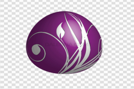 Purple Easter Egg PNG Free Download