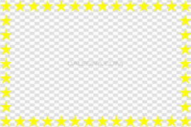 Yellow Border Frame PNG Pic