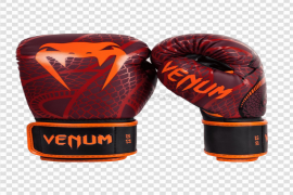 Red Venum Boxing Gloves PNG File