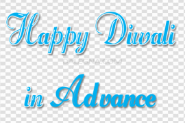 Happy Diwali In Advance PNG Transparent File