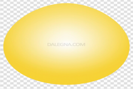 Plain Yellow Easter Egg Transparent PNG