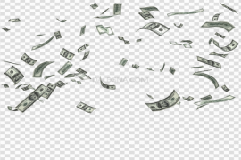 Falling Money Background PNG