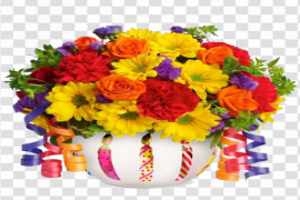 Birthday Flowers Bouquet PNG File