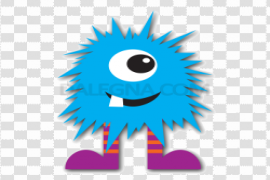 Blue Monster PNG Photo