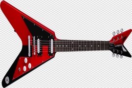 Rock Red Guitar PNG Clipart