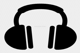 Headphones With Music Clip Art PNG