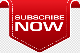 YouTube Subscribe Button PNG Image