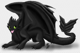 Toothless Dragon PNG Photos
