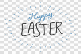 Happy Easter Logo PNG Picture
