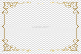 Gold Retro Decorative Frame PNG Free Download