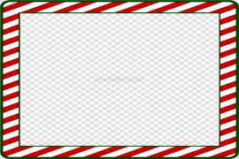 Square Christmas Frame PNG Free Download