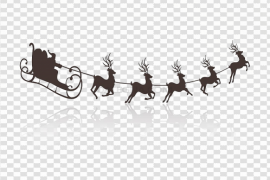 Santa Sleigh PNG Transparent Picture