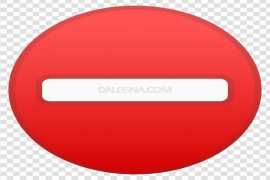 Red No Entry Transparent PNG