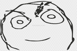 Angry Face Meme PNG Picture