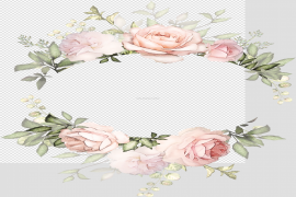 Flowers Frame Round PNG