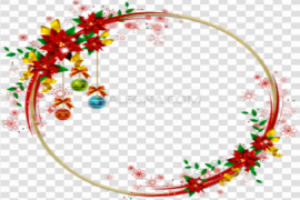 Red Christmas Frame PNG Free Download