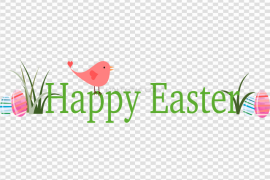 Easter Banner PNG Pic