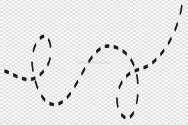Dotted Bee Trail Path Vector PNG