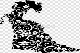 Flower Silhouette PNG Clipart