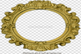 Golden Round Frame PNG Clipart