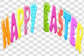 Happy Easter Logo PNG HD