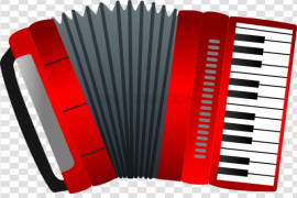 Vector Red Accordion Transparent Background