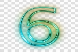 Neon Number PNG Transparent Picture