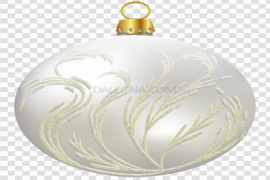 White Christmas Ornaments PNG Picture