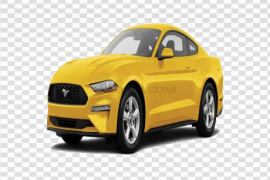 Yellow Ford Mustang PNG Photos