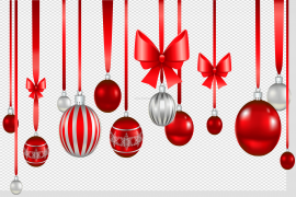 Red Christmas Bauble PNG Transparent Picture