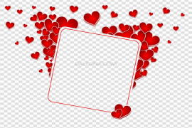 Vector Love Frame PNG HD