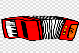 Vector Red Accordion PNG Photos