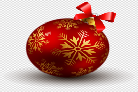 Red Christmas Ornaments PNG Photos