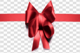 Gift Bow Ribbon Transparent Background
