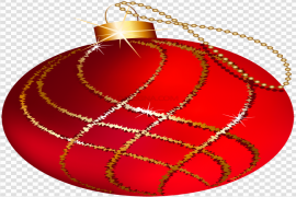 Red Christmas Bauble PNG Picture