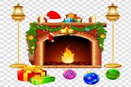 Christmas Chimney PNG Free Download