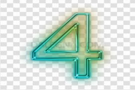 Neon Number PNG File