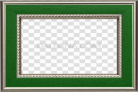 Rectangle Green Frame PNG Image