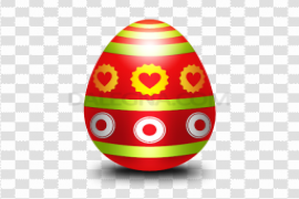 Colorful Easter Eggs PNG Pic