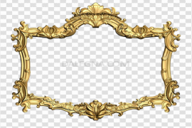 Gold Flower Frame PNG Picture
