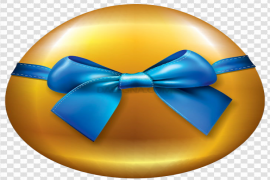 Gold Easter Egg PNG HD