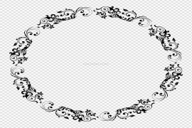 Floral Frame PNG Picture