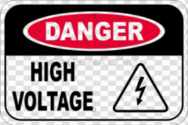 High Voltage Sign PNG Pic