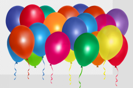 Colorful Bunch of Balloons PNG Photos