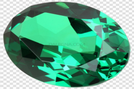 Round Emerald Stone PNG Photos