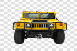 Yellow Hummer PNG Pic