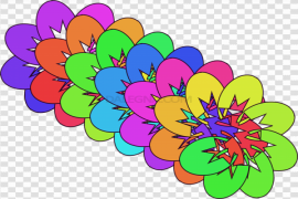 Abstract Flower PNG Photo